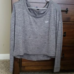 Long sleeve crop top from Hollister